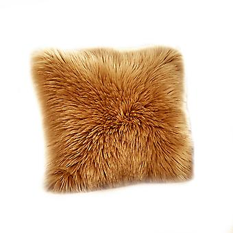 YANGFAN Faux Wool Cute Nordic Sofa Decor Plush Pillowcase