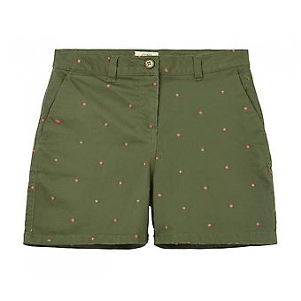 Joules Cruise Embroidery Mid Lenth Short (green Spot)