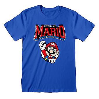 Men & apos;s Retro Super Mario It's-A Me Blue T-Shirt