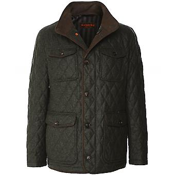 Waterville Water-Repellent Quilted Wool Jacket
