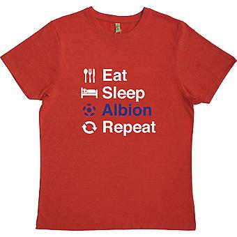 Eat Sleep Albion Repeat Red 100% Recycled T-Shirt