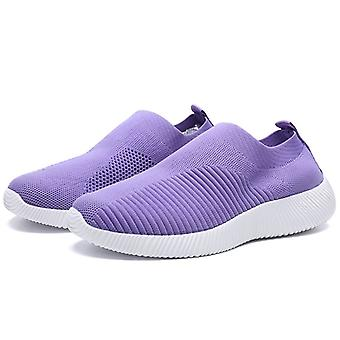 Frauen Laufschuhe Flying Weaving Slip-On Round Toe Sneakers