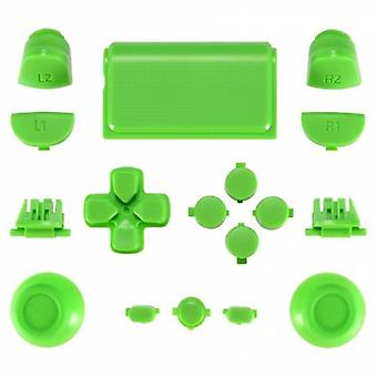 Zedlabz full replacement button set mod kit for 2nd gen sony ps4 jdm-030 controllers - green