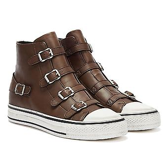 ASH Virgin Leather Womens Brown Trainers