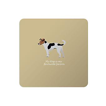 Bailey and Friends Dog Placemat Jack Russell Mustard