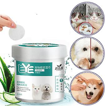 Pet Eye Wet Wipes Dog Cat Pet Cleaning Wipes Grooming Tear Stain Remover Clean