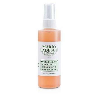 Spray facial com aloe, ervas e água de rosas - Para todos os tipos de pele 118ml ou 4oz