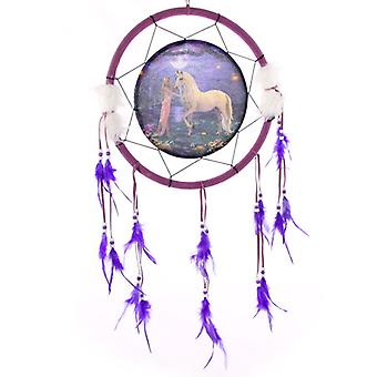 Decorative Fantasy Unicorn Garden 34cm Dreamcatcher X 1 Pack