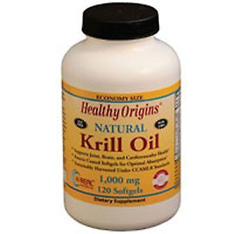 Healthy Origins Krill Oil, 1000 mg, 120 Softgels