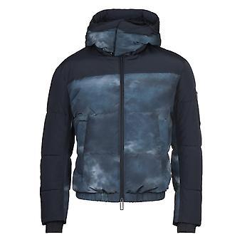 Emporio Armani Two-Tone Nylon Down Storm Cloud Jacket