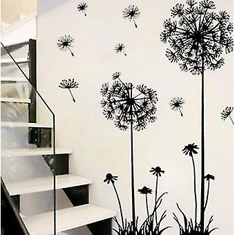 Black Dandelion Wall Stickers, For Bedroom-sitting Room Decorations
