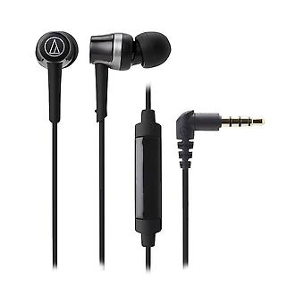Audio-technica ath-ckr30isbk sonicfuel in-ear headphones with in-line mic & control, black