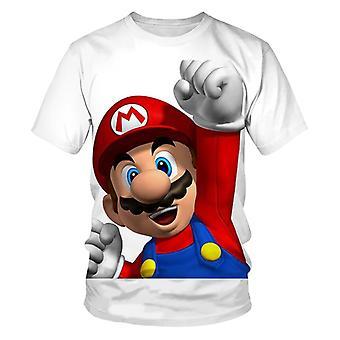 3d Printed Super Mario T-paita, Lyhythihaiset Kesä/tyttö paidat