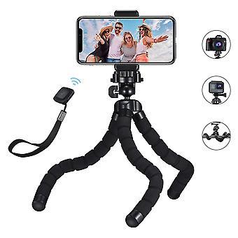 Mini tripod, mpow flexible phone tripod with bluetooth control, 360° rotating camera travel tripod