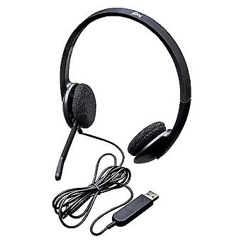 Logitech h340 wired headset, stereo headphones with noise-cancelling microphone, usb, pc/mac/laptop
