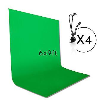 Emart 1.8x2.8m / 6 x 9 ft fotografie pozadí pozadí, zelená chromakey mušelín pozadí obrazovky