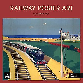 Otter House Square Wall Calendar 2021 - Railway Poster Art