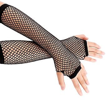 New Neon Fishnet Fingerless Long Gloves Leg Arm Cuff Party Wear Fancy Dress