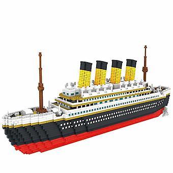كتلة سفينة سياحية تيتاتان قارب نموذج تجميع بناء كتل الماس نموذج