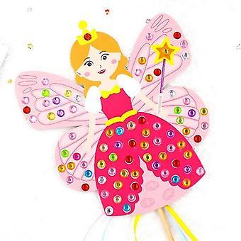 Lapset Diy Keiju keppi - Käsintehty Prinsessa Magic Lelu