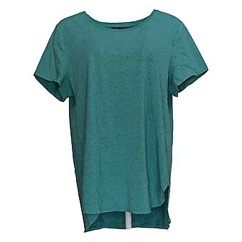 H by Halston Women's Top Donegal Knit Scoop-Neck Top Green A308597