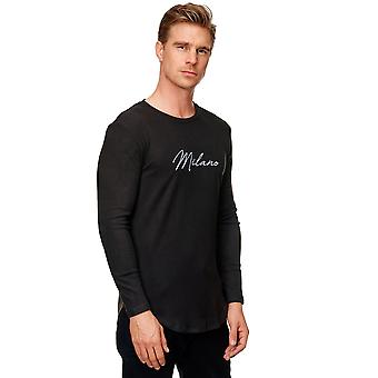 Mens Longsleeve Thin Slim Fit Pullover Long Arm T-Shirt Stretch Crew Neck