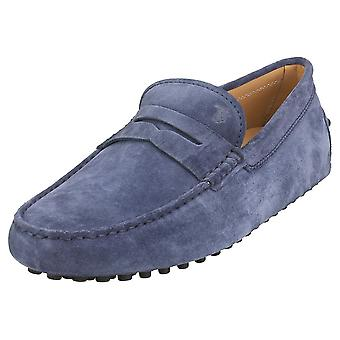 TOD'S Gommino Mens Loafer Shoes in Navy