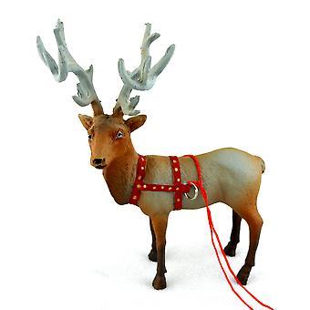 Poppenhuis Santa Rendierdanser Miniatuur Kerst accessoire Stabiel Dier