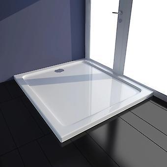 vidaXL Shower Cup ABS Rectangular White 80×90 cm