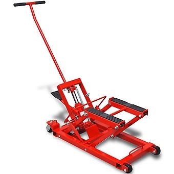 Hydraulic motorcycle lifting platform ATV 680 kg red