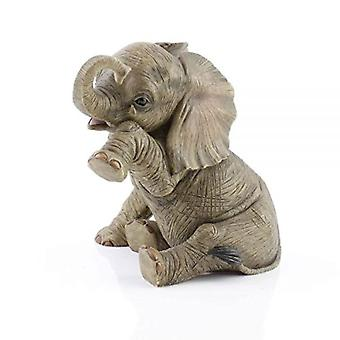Elephant Teardrop Figurine By Lesser & Pavey