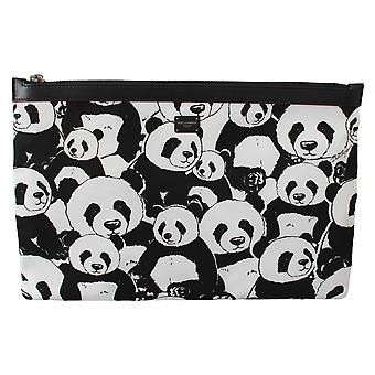 Black Panda Toiletry Clutch Hand Purse Hand Pouch Bag