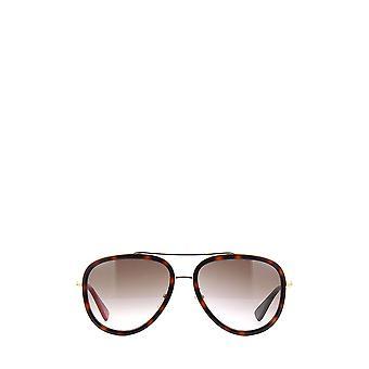 Gucci GG0062S gouden vrouwelijke zonnebril