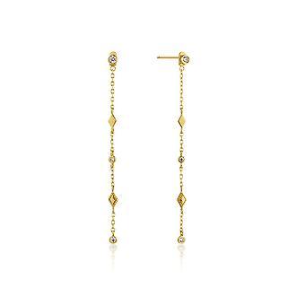 Ania Haie Silver Shiny Gold Plated Bohemia Shimmer Drop Earrings E016-06G