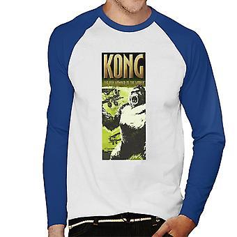 King Kong siendo enjaulado por Biplanes The 8th Wonder Of The World Men's Baseball camiseta de manga larga