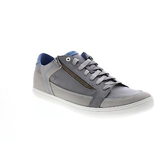 Geox U Halver  Mens Gray Leather Zipper Euro Sneakers Shoes