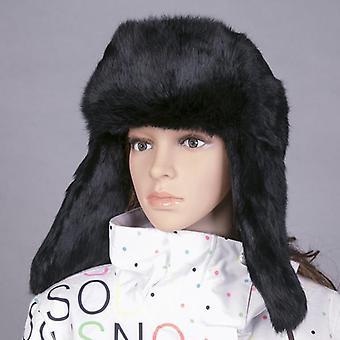 Winter echte Kaninchen Pelz Bomber Hut, handgefertigt, Männer im Freien, super warm, natürlich