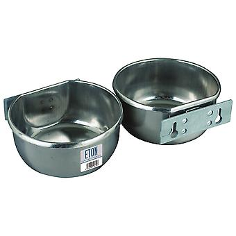 Eton Stainless Steel D-Cup with Bolt-On Mounting Plate Kit