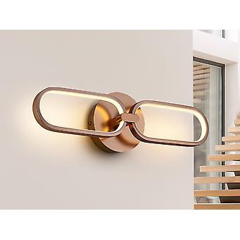Schuller Colette - Integreret LED væglampe, rosaguld