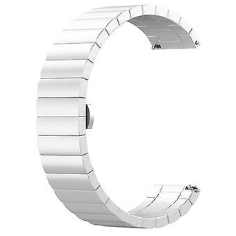 עבור Huami Amazfit GTR 47mm אבזם פרפר רצועת שעון נירוסטה (כסף)