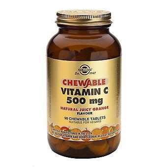Solgar Witamina C 500 mg do żucia 90 tabletek - aromat soczystej pomarańczy