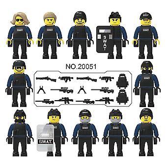 De Poppen van de Stad van de politie, Bewapende Bouwstenen met een Verscheidenheid van Vormen en Scènes