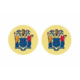 2x sticker sticker round cocarde flag usa usin united states new jersey