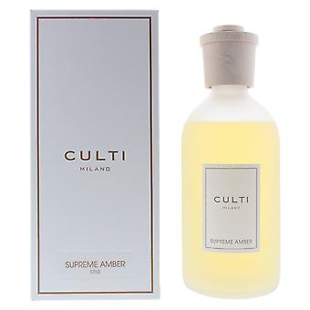 Culti Milano Stile Diffuser 500ml Supreme Amber - Sticks Not Included In The Box