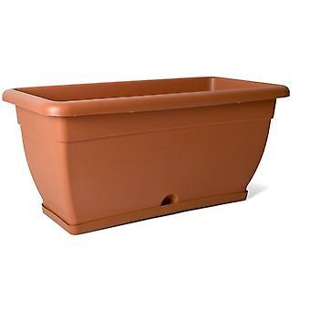 planter 80 x 38 x 36 cm brown