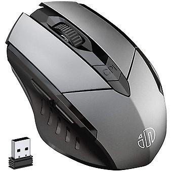 HanFei Kabellose Maus Wiederaufladbare, Ergonomische 2,4G Optische Funkmaus mit USB Nano Empfnger fr