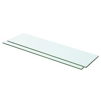 vidaXL planken 2 st. glas Transparant 60 x 12 cm