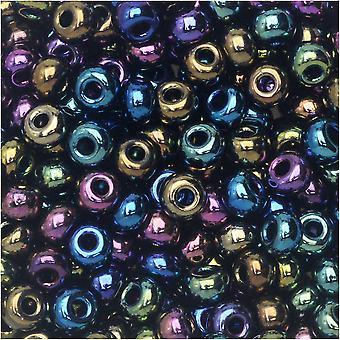 Tšekin lasiset siemenet, 6/0 Pyöreä, 24 gramman putki, Dragon Eyes Mix
