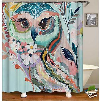 Art maalaus pöllö suihku verho
