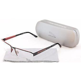 جاكوار النظارات الإطار 33556 824 أسود أحمر معدني ألمانيا أدلى 57-17-135